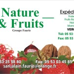 cartes visite nature & fruits faurie