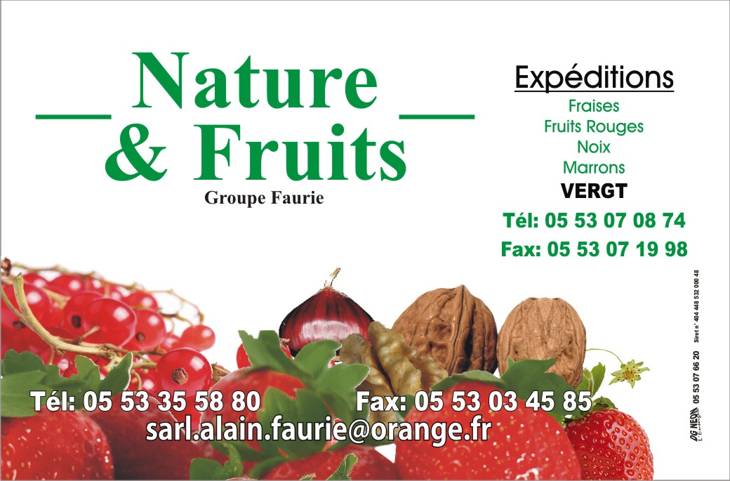 Carte Alain Faurie Cartes Visite Nature Fruits